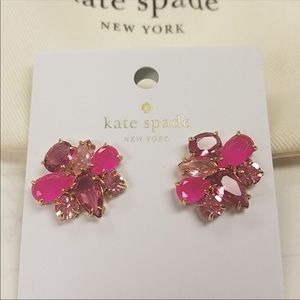 NWT Kate Spade Pink Cluster Earrings